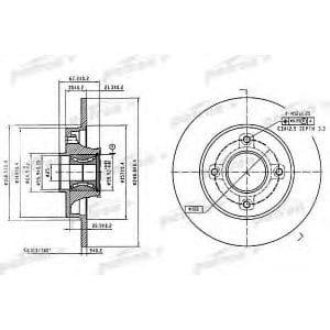 PBD7011 Patron тормозной диск