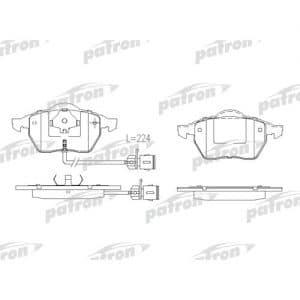 PBP1011 Patron Колодки тормозные дисковые