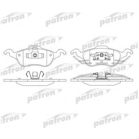 PBP1318 Patron Колодки тормозные дисковые