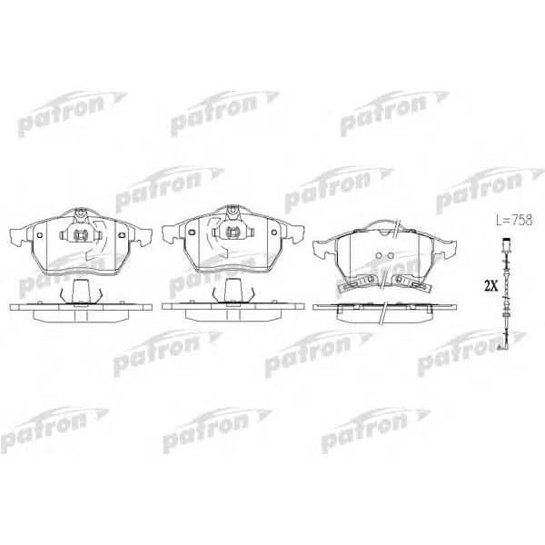 PBP1535 Patron Колодки тормозные дисковые