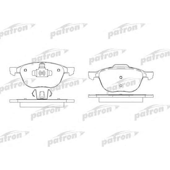 PBP1594 Patron Колодки тормозные дисковые