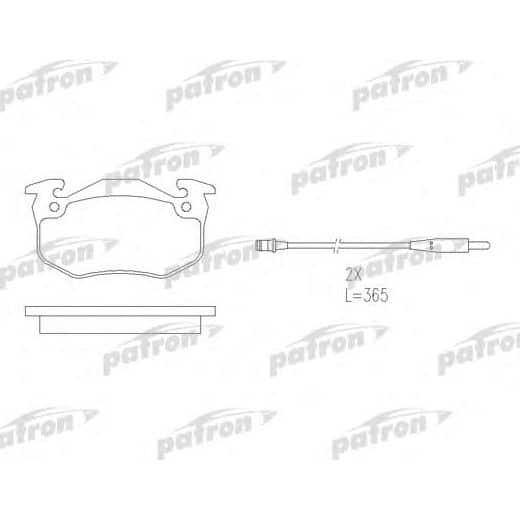 PBP881 Patron Колодки тормозные дисковые