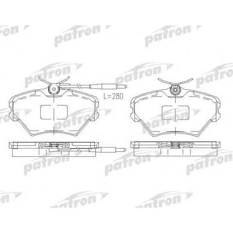 PBP972 Patron Колодки тормозные дисковые
