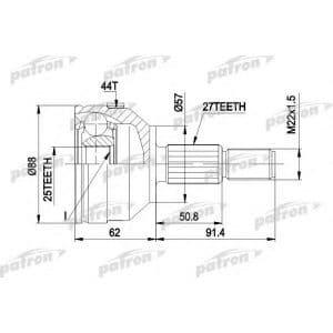 PCV1200 Patron шрус наружный передний