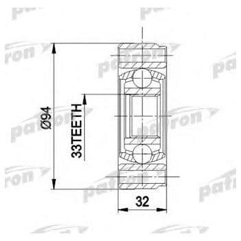 PCV3004 Patron шрус внутренний передний