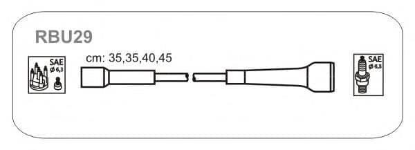 RBU29 JANMOR комплект проводов зажигания