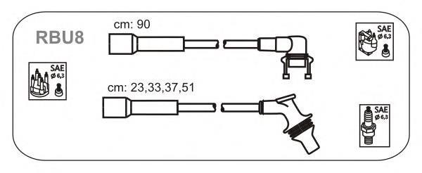 RBU8 JANMOR комплект проводов зажигания