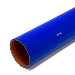 Патрубок силиконовый прямой Ф 80 мм L=1100 мм