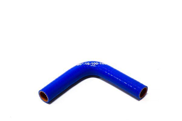Патрубок силиконовый угловой Ф 16 мм L=100х100 мм, 90°