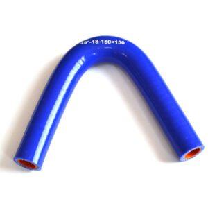 Патрубок силиконовый угловой Ф 18 мм L=150х150 мм, 45°