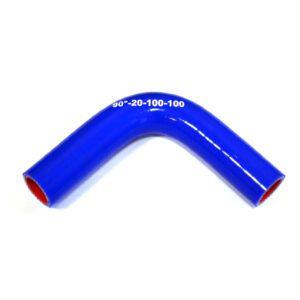 Патрубок силиконовый угловой Ф 20 мм L=100х100 мм, 90°