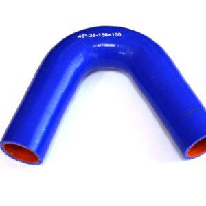 Патрубок силиконовый угловой Ф 38 мм L=150х150 мм, 45°