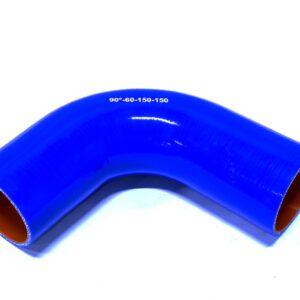 Патрубок силиконовый угловой Ф 60 мм L=150х150 мм, 90°