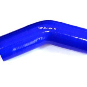 Патрубок силиконовый угловой Ф 63 мм L=150х150 мм, 135°