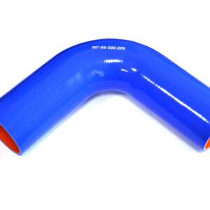 Патрубок силиконовый угловой Ф 65 мм L=200х200 мм, 90°