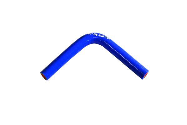 Патрубок силиконовый угловой Ф 8 мм L=100х100 мм, 90°