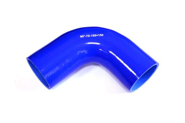Патрубок силиконовый угловой Ф 70 мм L=150х150 мм