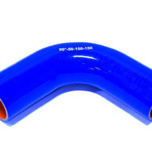 Патрубок силиконовый угловой Ф 50 мм L=150х150 мм, 90°